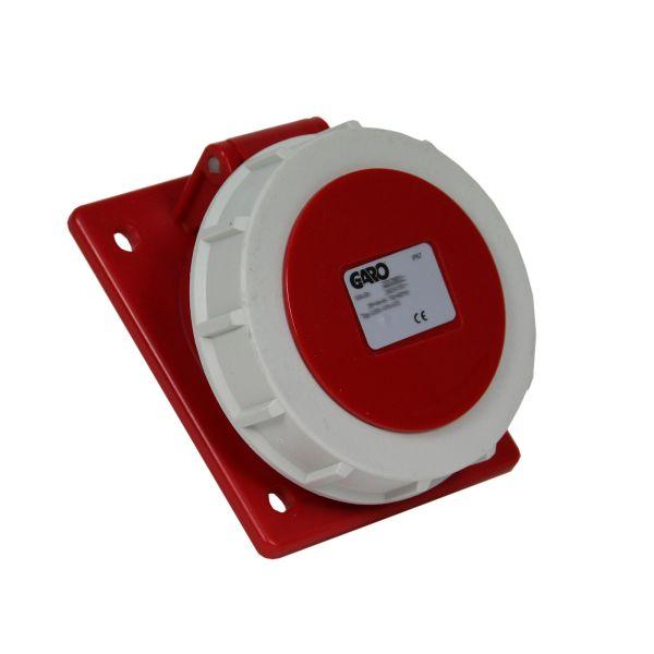 Garo UISV 332-11 S Paneluttag IP67 4-polig 32A sned Röd 11 h