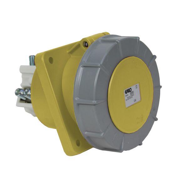 Garo UISV 4125-4 S Paneluttag IP67 5-polig 125A sned Gul 4 h