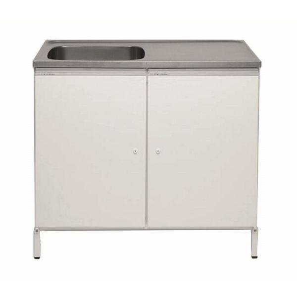 Tvättbänk Contura CABL 10 vit, med 2 förvaringsskåp Vänster