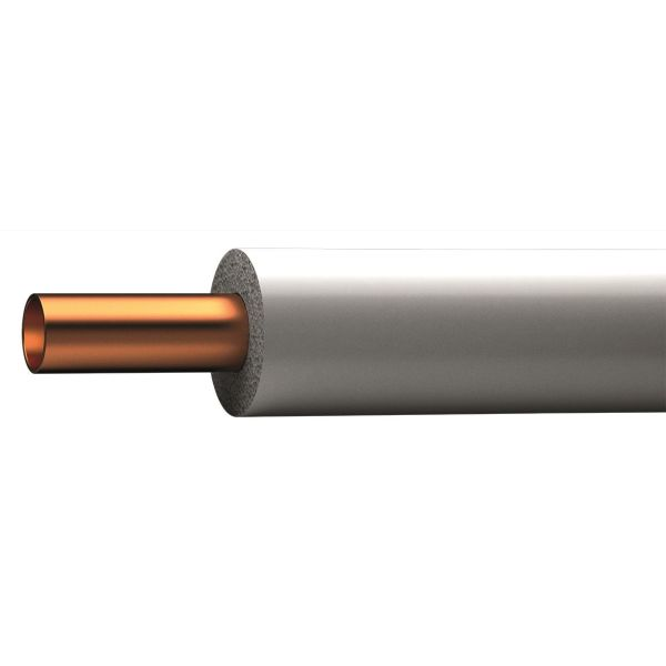 Kopparrör Cupori 150 värmeisolerat, 25 m ring 28 x 1,2 mm