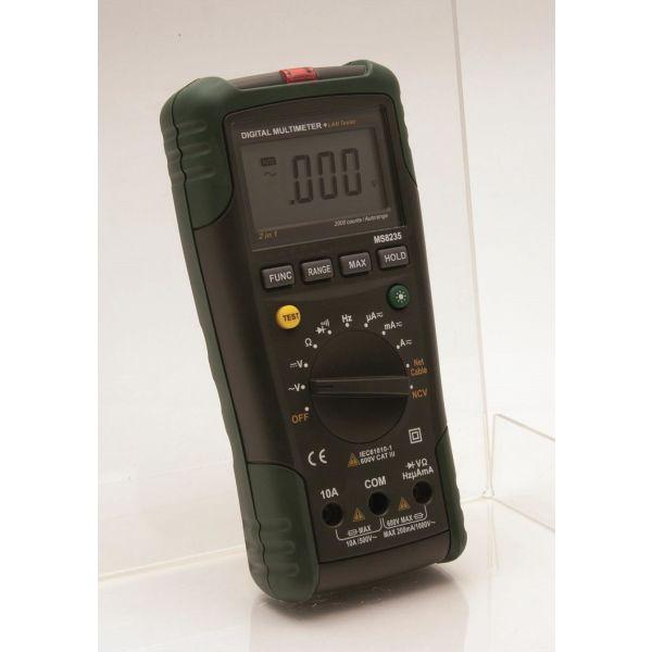 Multimeter Marelco 42.6082 med LAN-kabeltestare