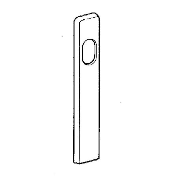 Cylinderskylt ASSA 468876100011 utsida, blankkrom Höjd: 12 mm