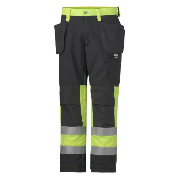 Helly Hansen Workwear Alta Arbetsbyxa varsel, gul/svart D108