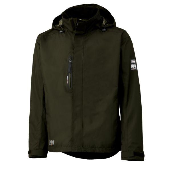 H/H Workwear Haag Fleecejacka grön vattentät XS