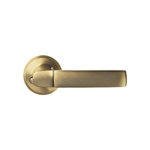 Dørhåndtak ASSA 6647 40–75 mm, GDS/SB, 2-pakning Mattbørstet messing
