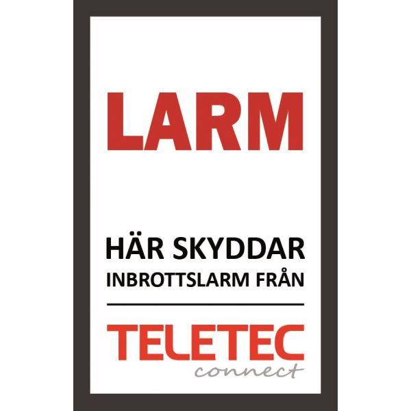 Hälytyskyltti Teletec Connect 111851 Itsekiinnittyvä 47 x 73 mm