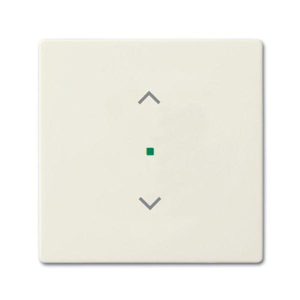 Yksiosainen vipupainike ABB Future Linear 6220-0-0586 verhoille Chalet-white