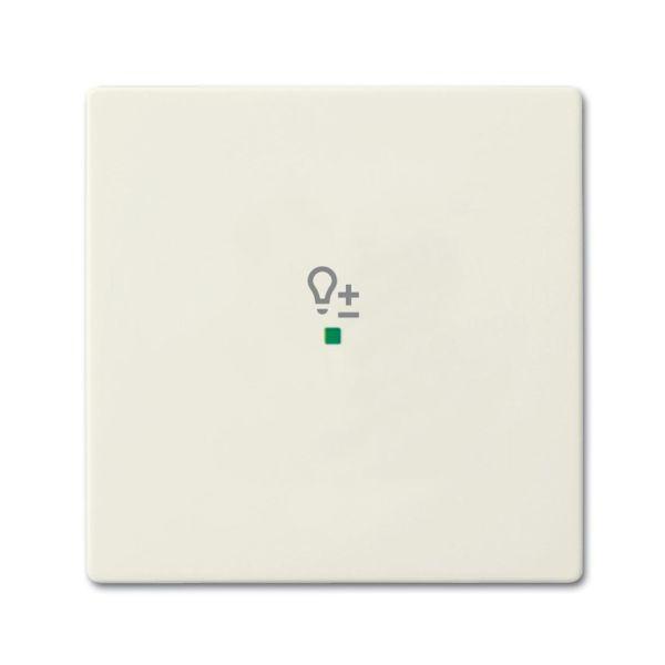 Yksiosainen vipupainike ABB Future Linear 6220-0-0588 himmennin Chalet-white