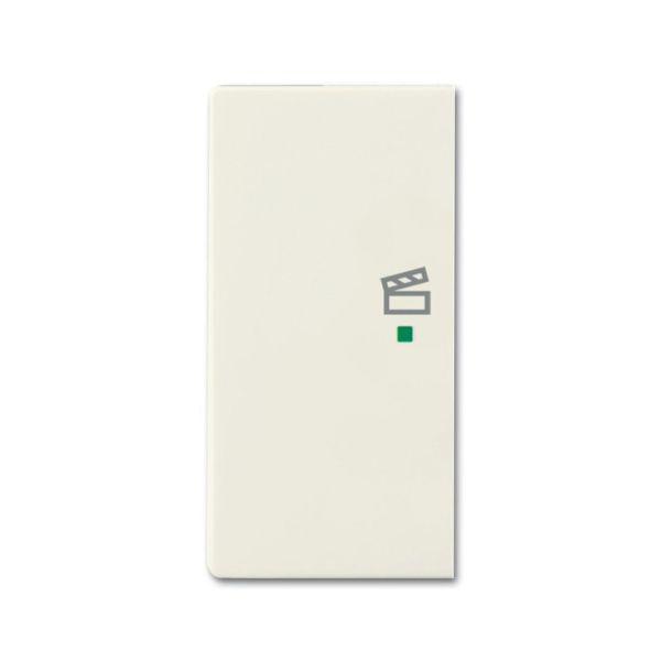Yksiosainen vipupainike ABB Future Linear 6220-0-0592 tilanneohjaus, valkoinen Vasen