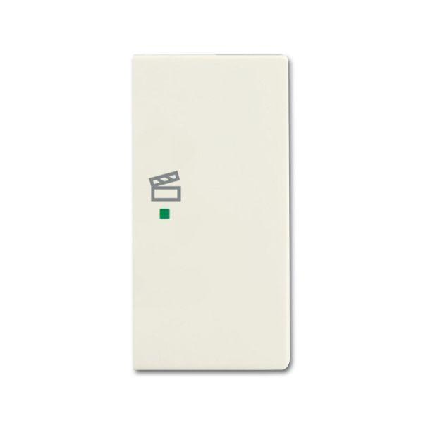 Yksiosainen vipupainike ABB Future Linear 6220-0-0596 tilanneohjaus, valkoinen Oikea