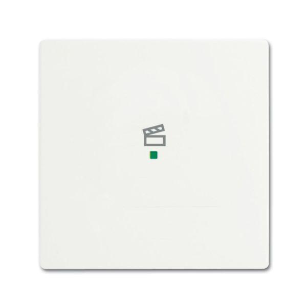 Yksiosainen vipupainike ABB Future Linear 6220-0-0604 tilanneohjaus valkoinen