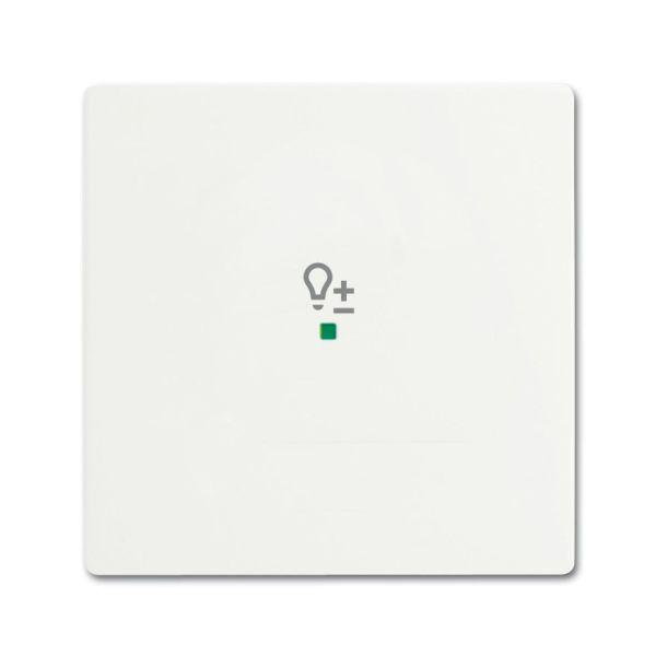 Yksiosainen vipupainike ABB Future Linear 6220-0-0605 himmennin valkoinen