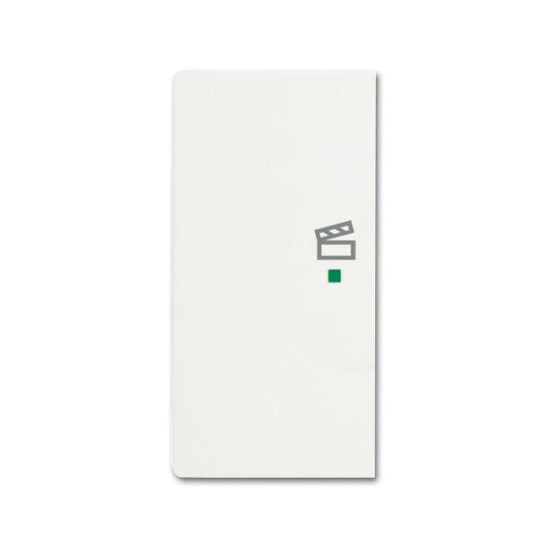 Yksiosainen vipupainike ABB Future Linear 6220-0-0609 tilanneohjaus, valkoinen Vasen