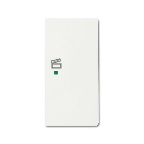 Yksiosainen vipupainike ABB Future Linear 6220-0-0613 tilanneohjaus, valkoinen Oikea