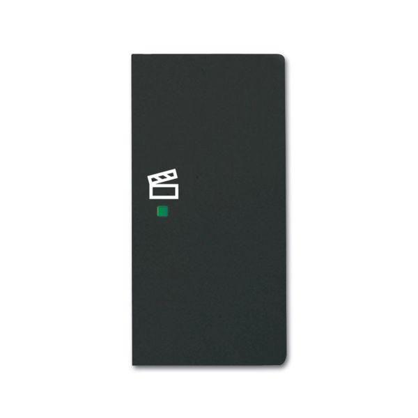 Yksiosainen vipupainike ABB Future Linear 6220-0-0630 tilanneohjaus, musta Oikea