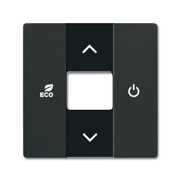 Keskiölevy ABB Future Linear 6220-0-0631 termostaatti Musta