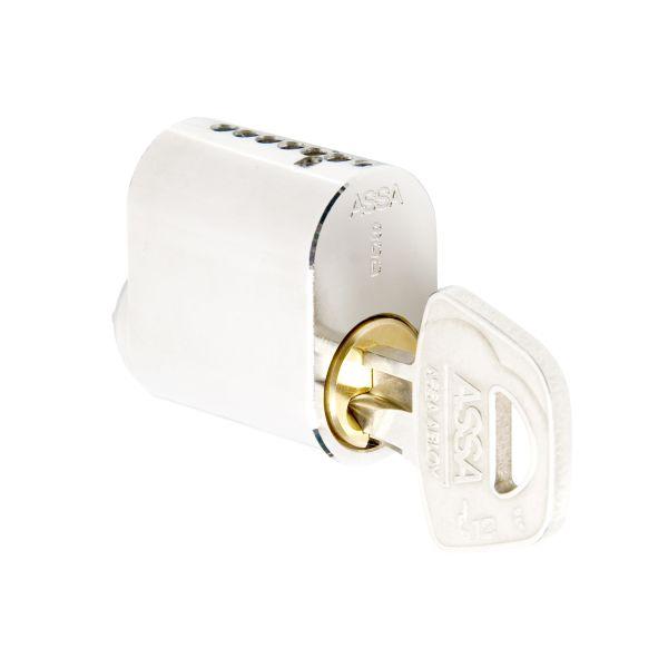 Låscylinder ASSA 1201 med fem nycklar, oval