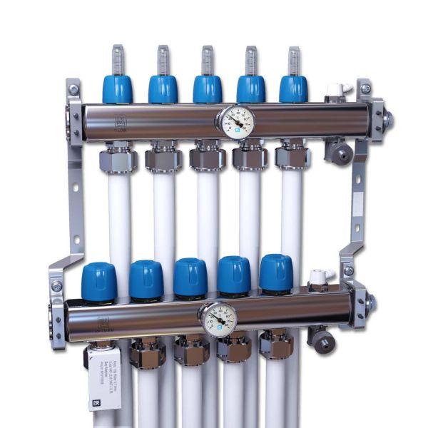 LK Systems 2419353 Värmekretsfördelare rostfritt stål 5 grupper
