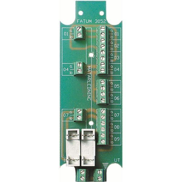 Alarmtech 3052.03 Bussplint 2 x 1-3 par, avsäkrad strömmatning Skruv/skruv