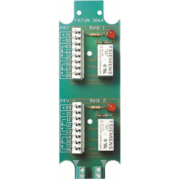 Alarmtech 3064.01 Reläplint 2-relä, 24 DC Skruv/skruv