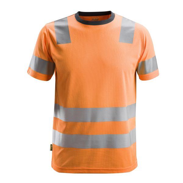 Snickers 2530 AllroundWork T-shirt varsel orange S