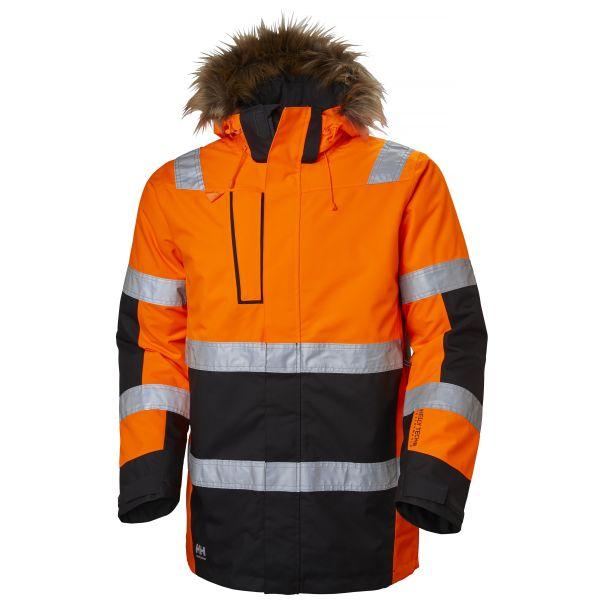 H/H Workwear Alna Vinterparkas varsel orange/svart XL