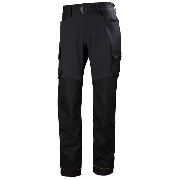 H/H Workwear Chelsea Evolution Arbetsbyxa svart 4-vägs stretch D112