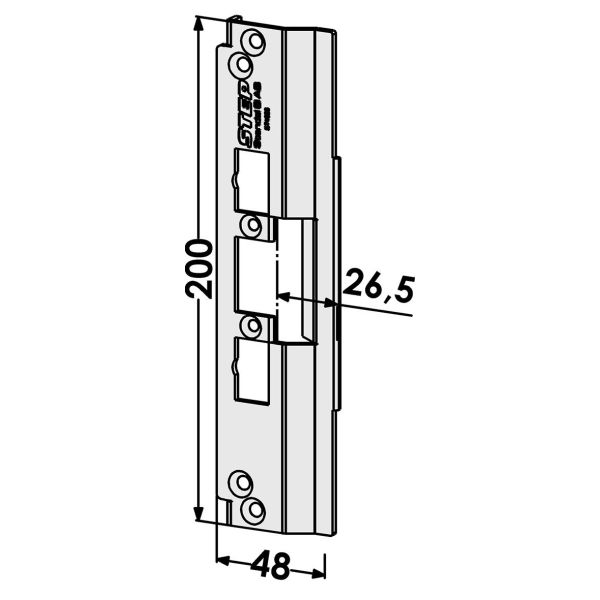 Stolpe STEP ST4026 för Schüco profilsystem 26,5 mm