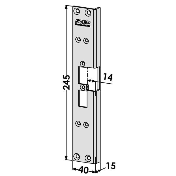 Stolpe STEP ST6526 utbyte från Connect till Modul-serien Vänster