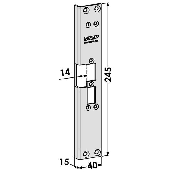 Stolpe STEP ST6527 utbyte från Connect till Modul-serien Höger