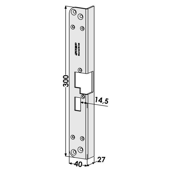 Stolpe STEP ST186-A för Fas och Modul Vänster