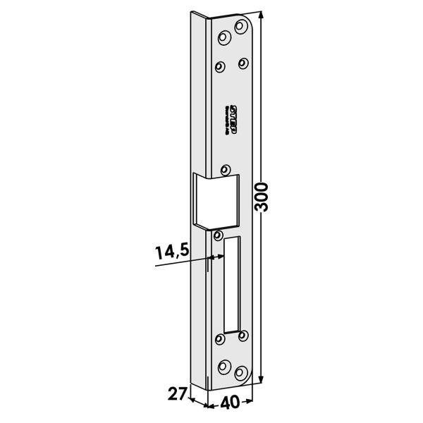 Stolpe STEP ST186-B för Fas och Modul Höger