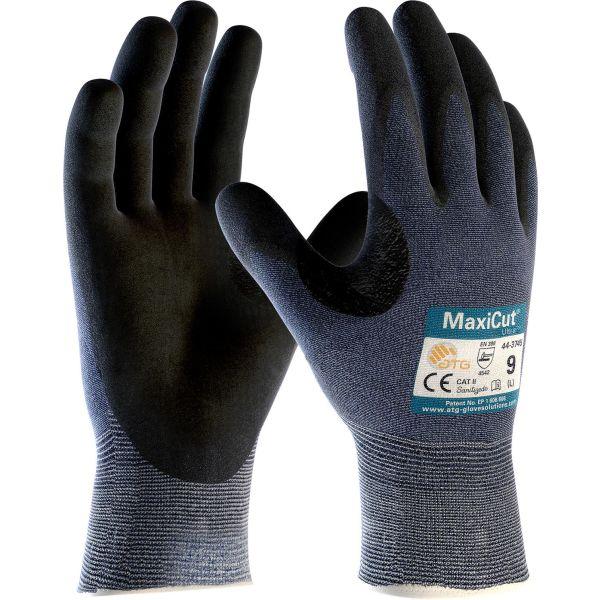 Handske ATG MaxiCut ULTRA 44-3745 Skärskydd, Förstärkt tumgrepp Strl 9