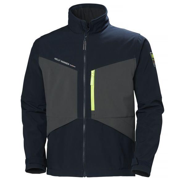 H/H Workwear Aker Softshelljacka marinblå/grå S