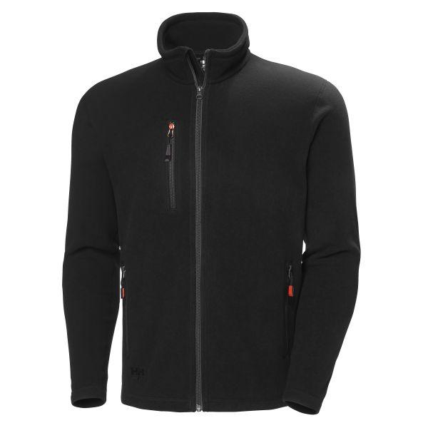 H/H Workwear Oxford Fleecejacka svart 4XL
