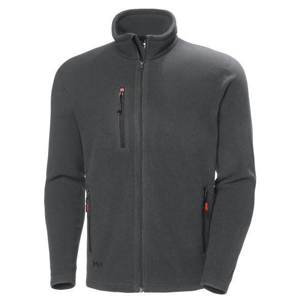 H/H Workwear Oxford Fleecejacka mörkgrå 3XL