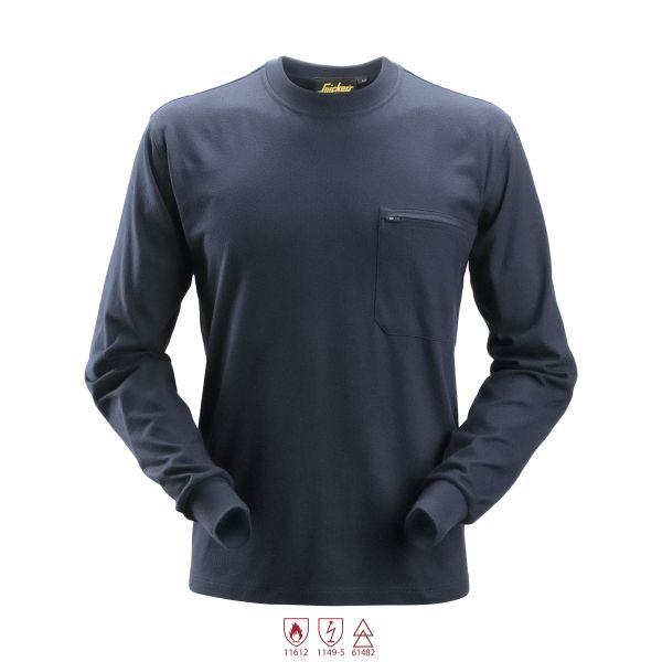 Snickers 2460 ProtecWork T-shirt marinblå långärmad 4XL
