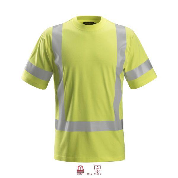 Snickers 2562 ProtecWork T-shirt varsel gul 4XL