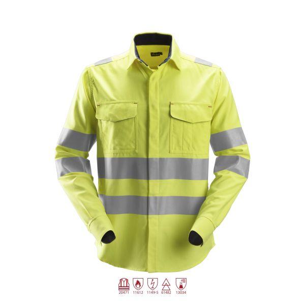 Snickers 8562 ProtecWork Skjorta varsel gul L