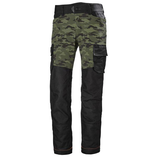 Työhousut Helly Hansen Workwear Chelsea Evolution camo/musta C46