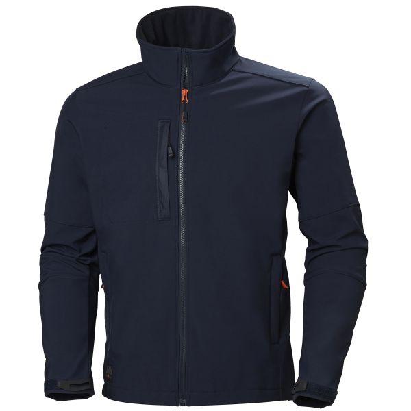H/H Workwear Kensington Softshelljacka marinblå XL