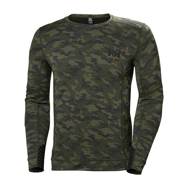 Undertröja Helly Hansen Workwear Lifa Merino kamouflage L