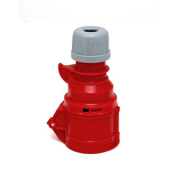 Garo Quick Skarvuttag IP44 5-polig 16A 6h, röd