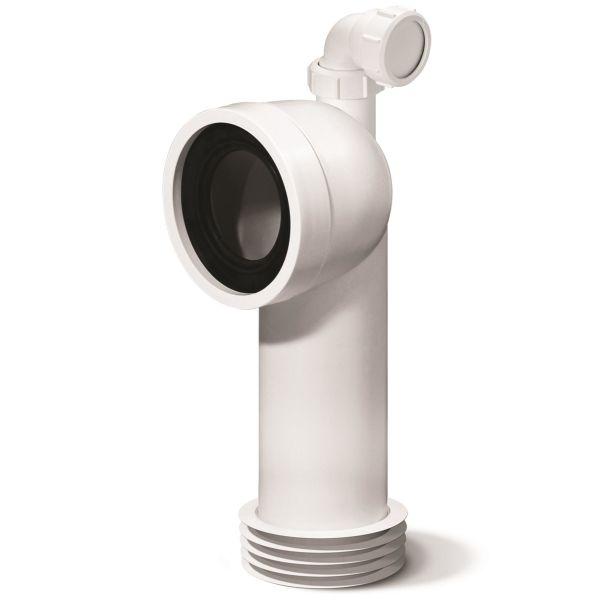 WC-anslutning Jafo 3106661 110 mm, med extra inlopp