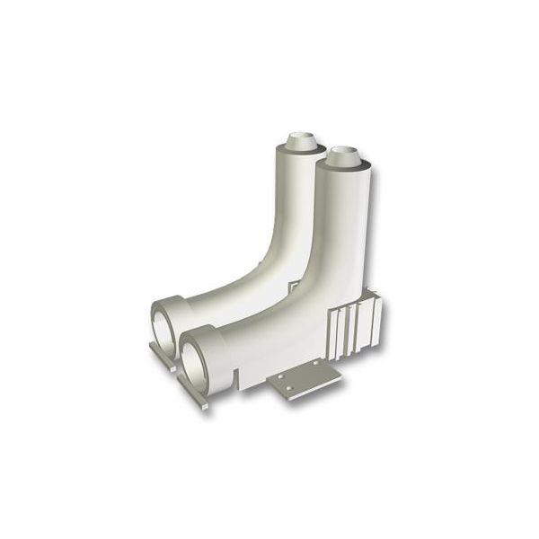 Radbockstöd LK Systems 4814367 25 x 25 mm, c/c 40 mm