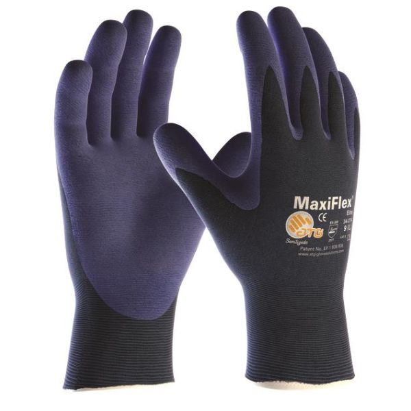 Montagehandske ATG MaxiFlex ELITE 34-274 blå Strl 8