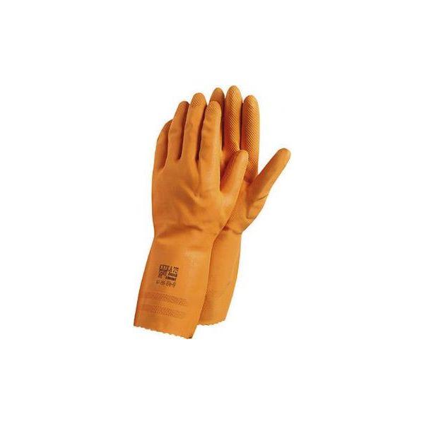 Handske Ansell Extra Kemskydd, Latex, orange Strl 7,5-8