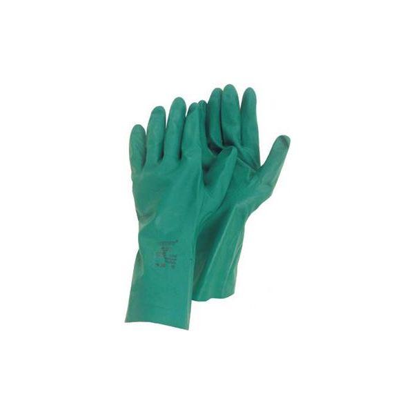 Handske Ansell 79-340 Kemskydd, Nitril, grön Strl 7,5-8