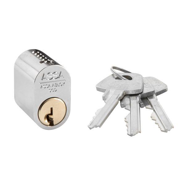 Låscylinder ASSA 1301 uppg. låsning, oval