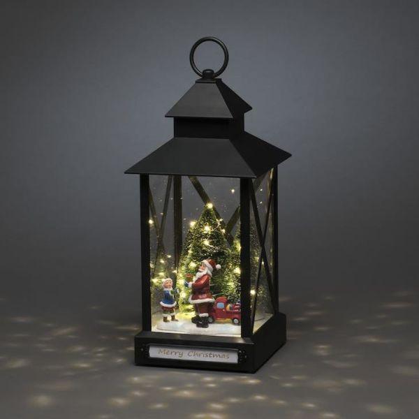 Lyslykt Konstsmide 4343-000 med julenisse